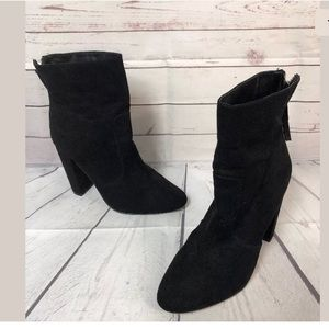 Just Fab Zakra Heel Boots Black Above Ankle 8.5